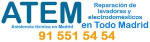 Servicio técnico lavadoras Comunidad de Madrid